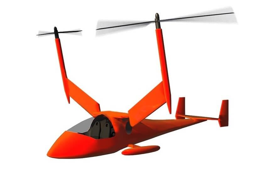 Конвертоплан Колибри с реактивным приводом роторов