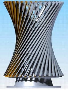 Ветровая турбина гиперболоидного типа по Шухову