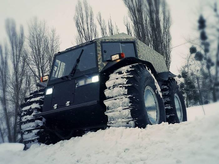 Снегоболотоход 4
