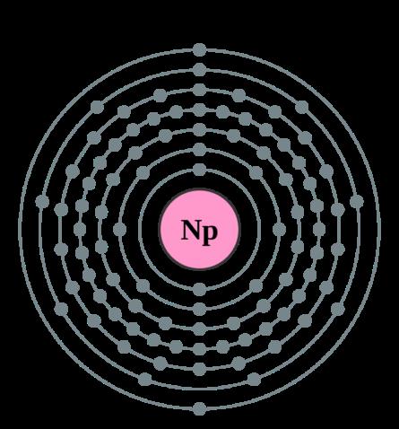 Электронная оболочка нептуния