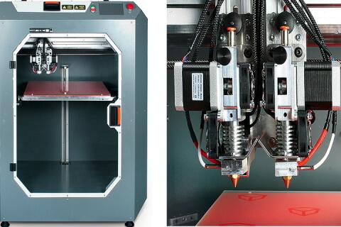 3D-принтер с двумя экструдерами