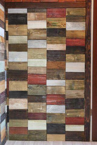 Облицовочная плитка из дерева
