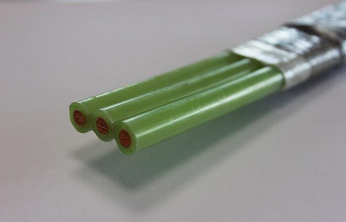 Защищенный кабель марки КПпФБП-130