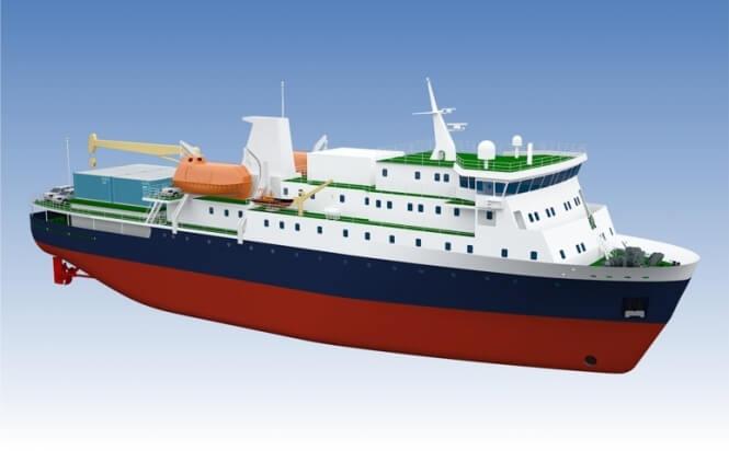 Грузопассажирское судно класса ARC 4 проекта PV22_1