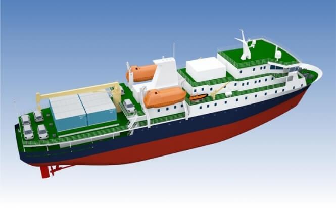 Грузопассажирское судно класса ARC 4 проекта PV22_5