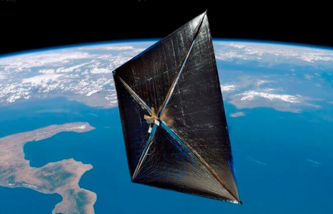 Солнечный парус для космических кораблей