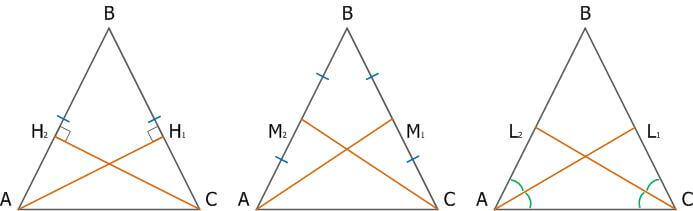 Равнобедренный треугольник, свойства, признаки и формулы_3