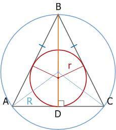 Равнобедренный треугольник, свойства, признаки и формулы_5