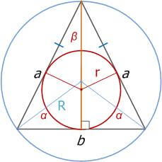 Равнобедренный треугольник, свойства, признаки и формулы_8